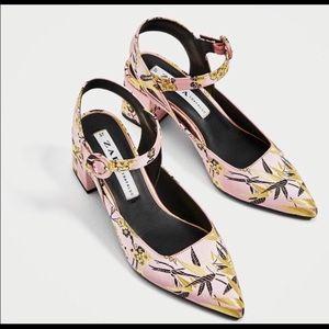 Zara Slingback Pump Shoes